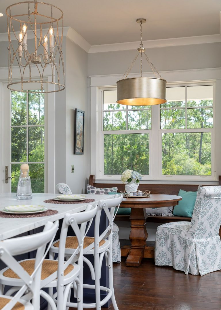 farmhouse banquette island