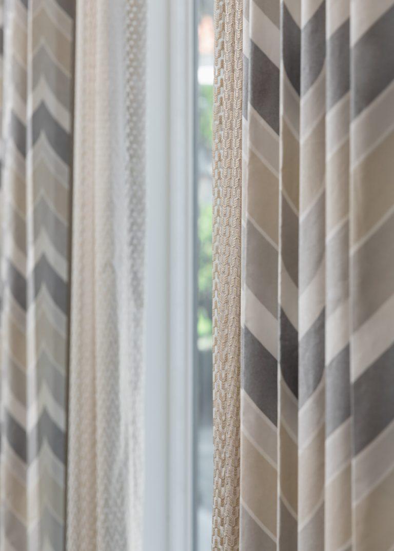 Grey sheer drapes