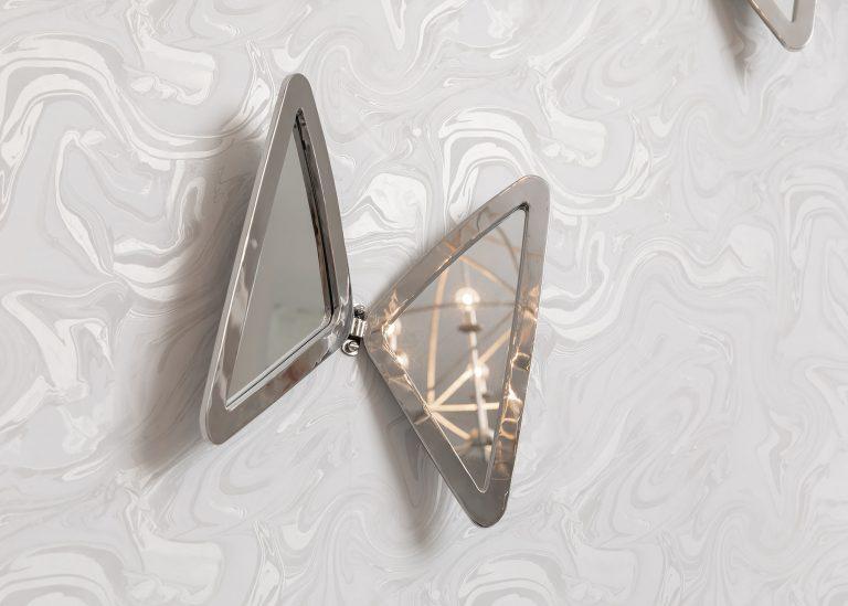 Butterfly wall art mirrored