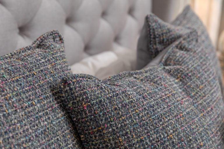 textured throw pillows for a feminine girl's bedroom