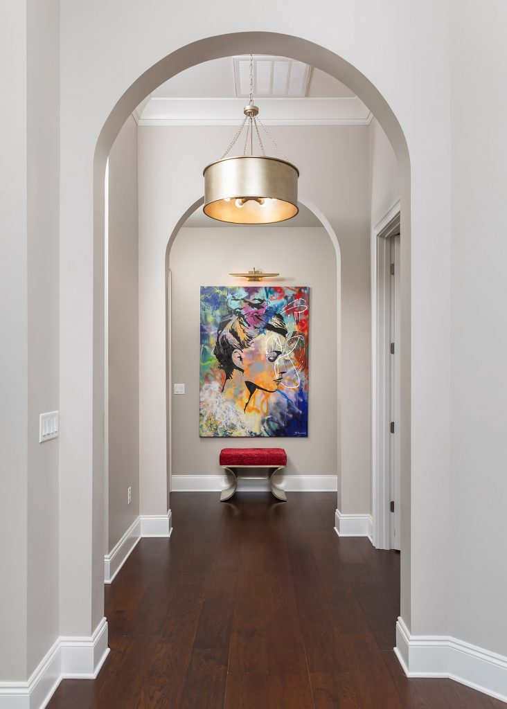 original art in double foyer
