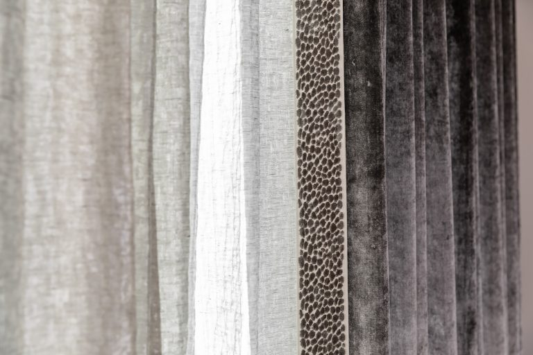 Grey Drapes in the Master Suite