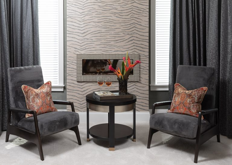 Grey sitting area in the Master Suite