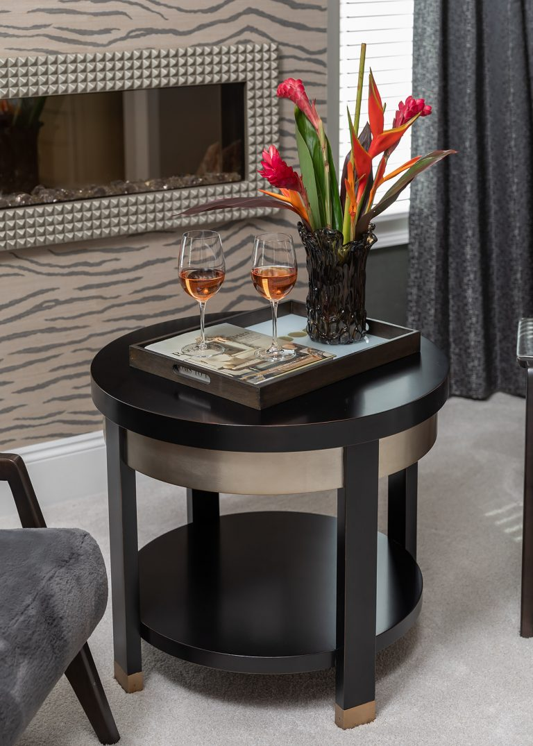 Side Table in the Master Suite Sitting Area