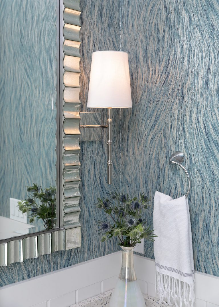 coastal powder bath with silver finishes