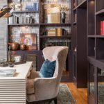 home office bookshelves painted vintage wine
