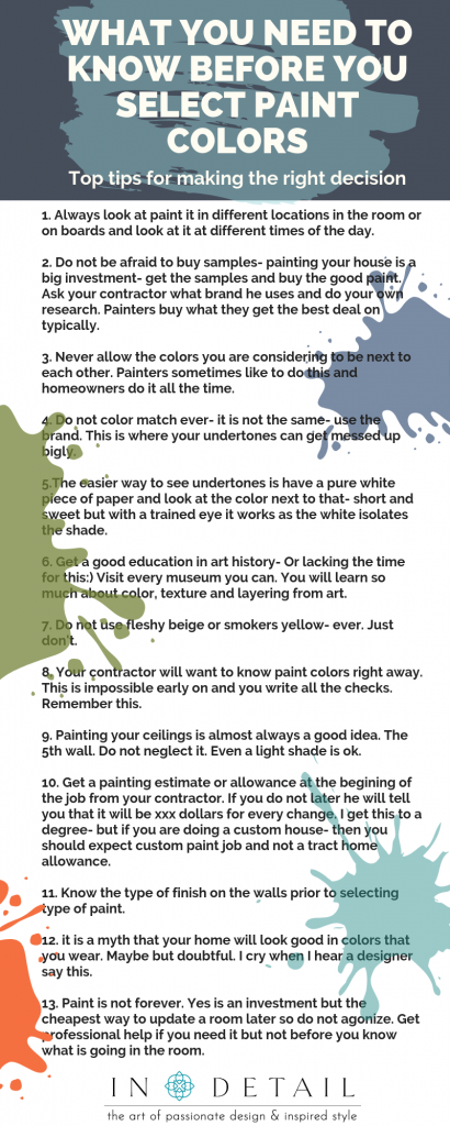 paint tips infographic