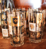 black and gold travel highball glass