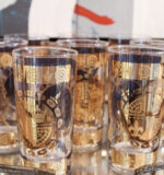 Vito Bari set of gold tumblers