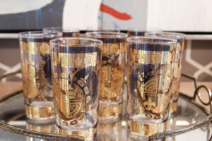 Vito Bari set of gold tumblers