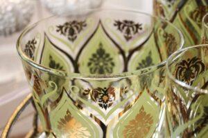 Grren/gold vintage Pasinski glass