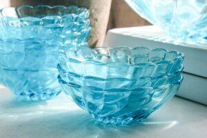 vintage aqua serving bowls