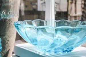 closeup vintage serving bowl