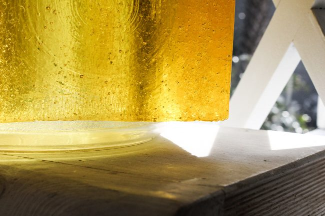 Detail of yellow glass