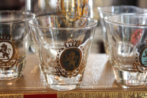 black Federal shot glass
