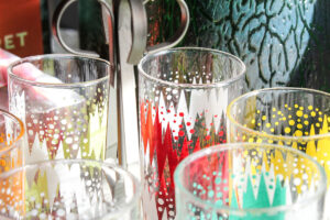 Detail of glassware
