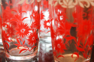 Swanky swig red glass