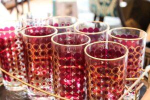vintage red/gold glasses