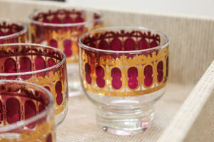 Vintage Culver punch glass