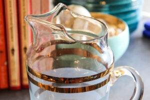Close-up of glass pitcher