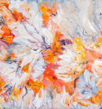 pensacola artist, spring flowers, original artwork, painting on canvas
