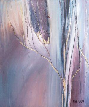 twilight woods, canvas painting, 24x24 painting, original artwork