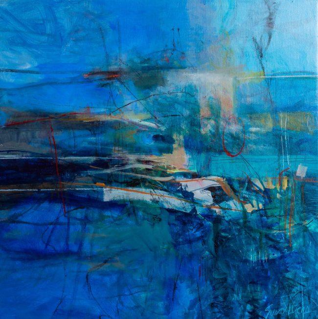pensacola artist, coastal painting, coral reef painting, pensacola fl, 30x30 painting