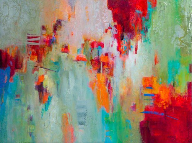 36 x 48 canvas, multicolored painting, bright colored painting, acrylic painting, bright acrylic painting, pensacola artwork, regional artist