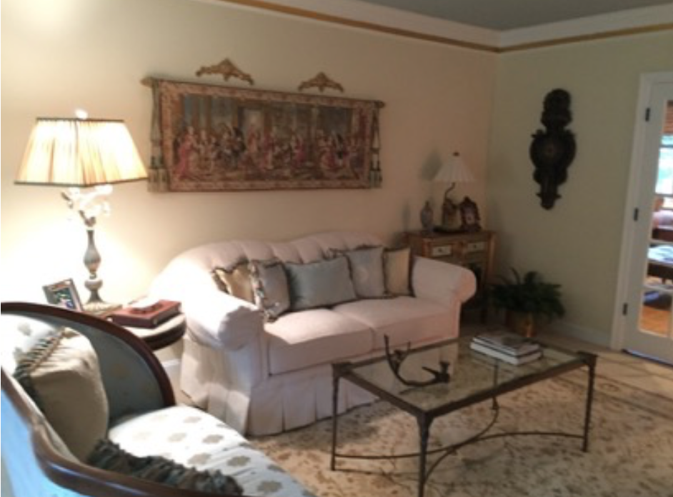 Before Colonial Living Room Makeover in New Jersey