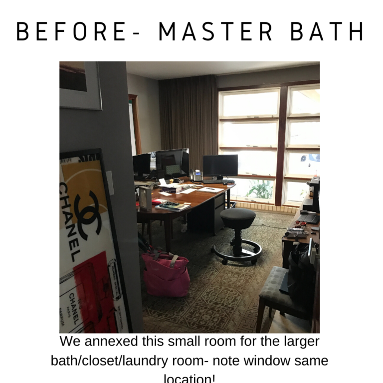 before and after mid century master bathroom remodel in detail interiors