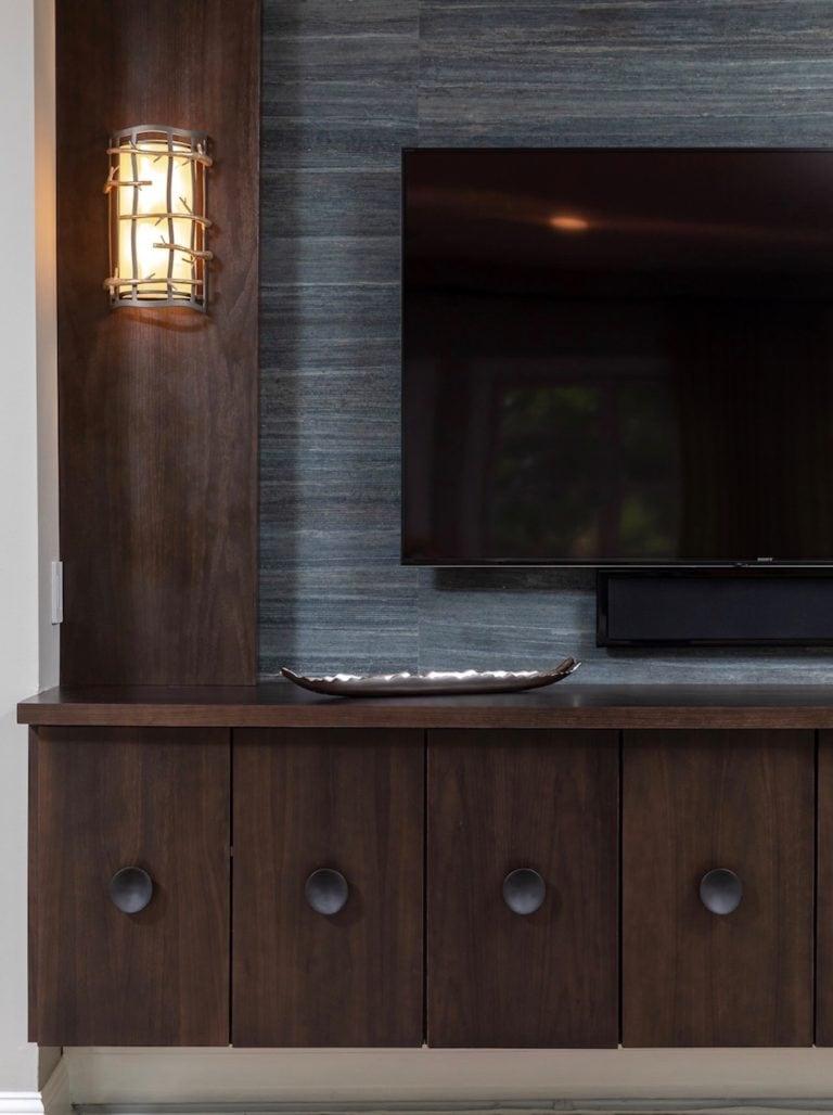 family room remodel, family room ideas, living room built in, dark brown built in
