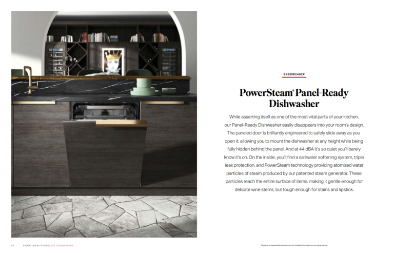 dishwasher, dark brown cabinets, stone floors, Nancy Rhodes Harper Art