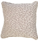 Grey and silver velvet throw pillow in detail interiors