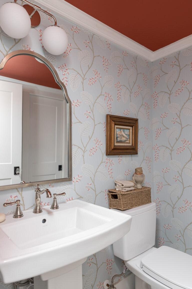 painted ceiling bathroom