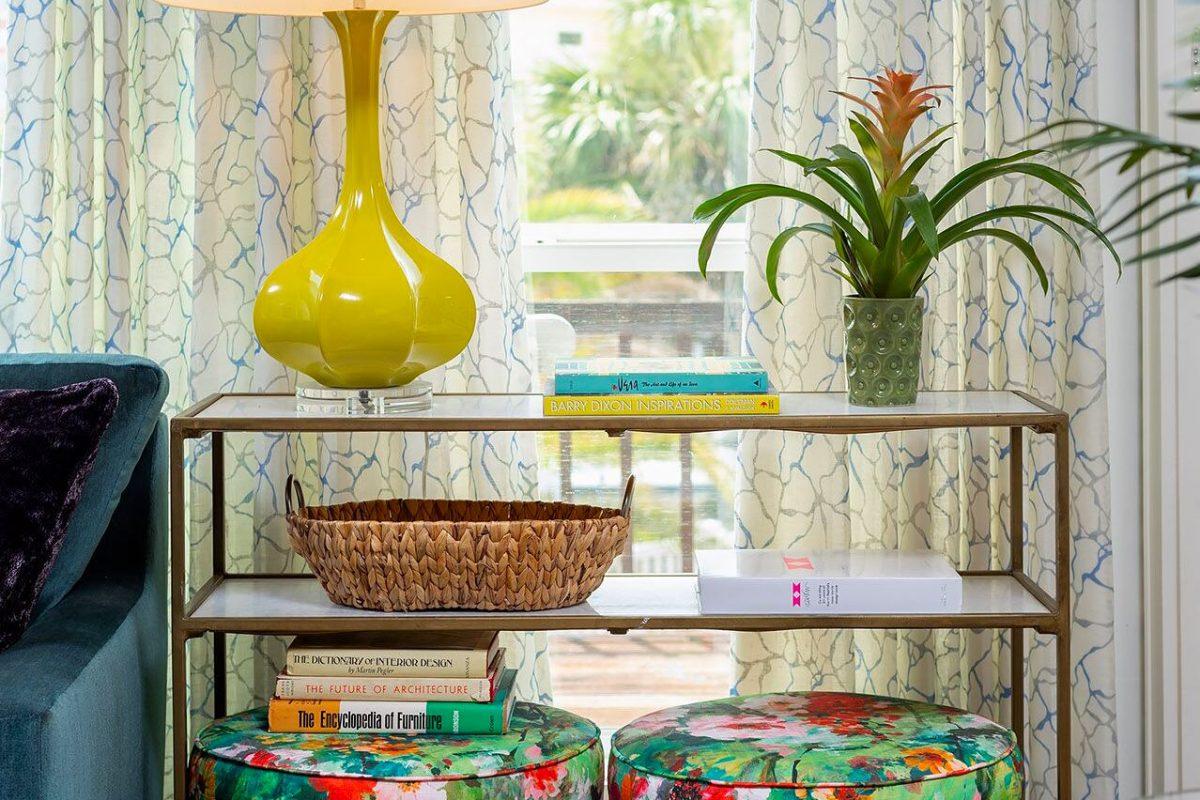 colorful living room coastal